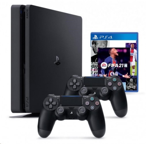 SONY PlayStation 4 Pro 500GB - čierny + FIFA21 + 2x DualShock