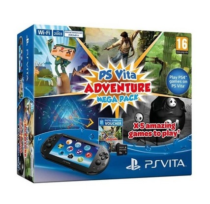 Sony PS Vita WiFi + Adventure Mega Pack + 8GB pamäťová karta