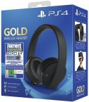 SONY PS4 Gold Wireless Headset - Black + Fortnite