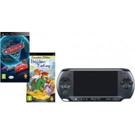 Sony PSP E-1004 Base Pack - BLACK + Cars 2 + Geronimo Stilton