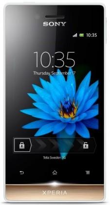 Sony Xperia miro White Gold ST23i