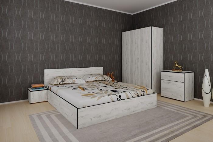 Spálňa Tarja-rám postele,skriňa,komoda,2 nočné stolíky II. akosť
