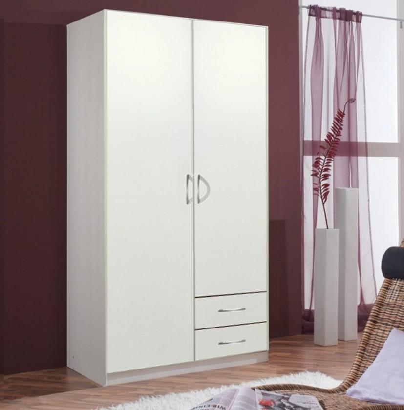 Spálne ZLACNENÉ Sprint - skriňa 90 cm,2x dvere,3x police,1x tyč (alpská biela)