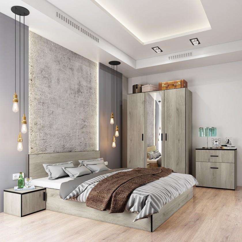 Spálňové zostavy Spálňový program Vernal-rám postele,skriňa,komoda,2 nočné stolíky