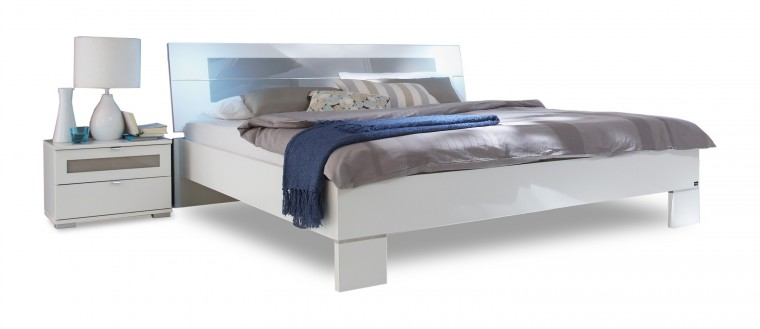 Spálňový program Advantage - Komplet, posteľ 160 cm (alpská biela/sivá)