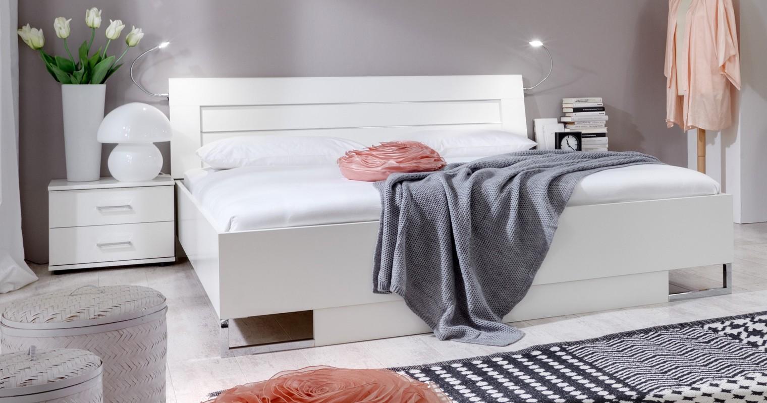 Spálňový program Davos - Komplet 3, posteľ 180 cm (alpská biela)