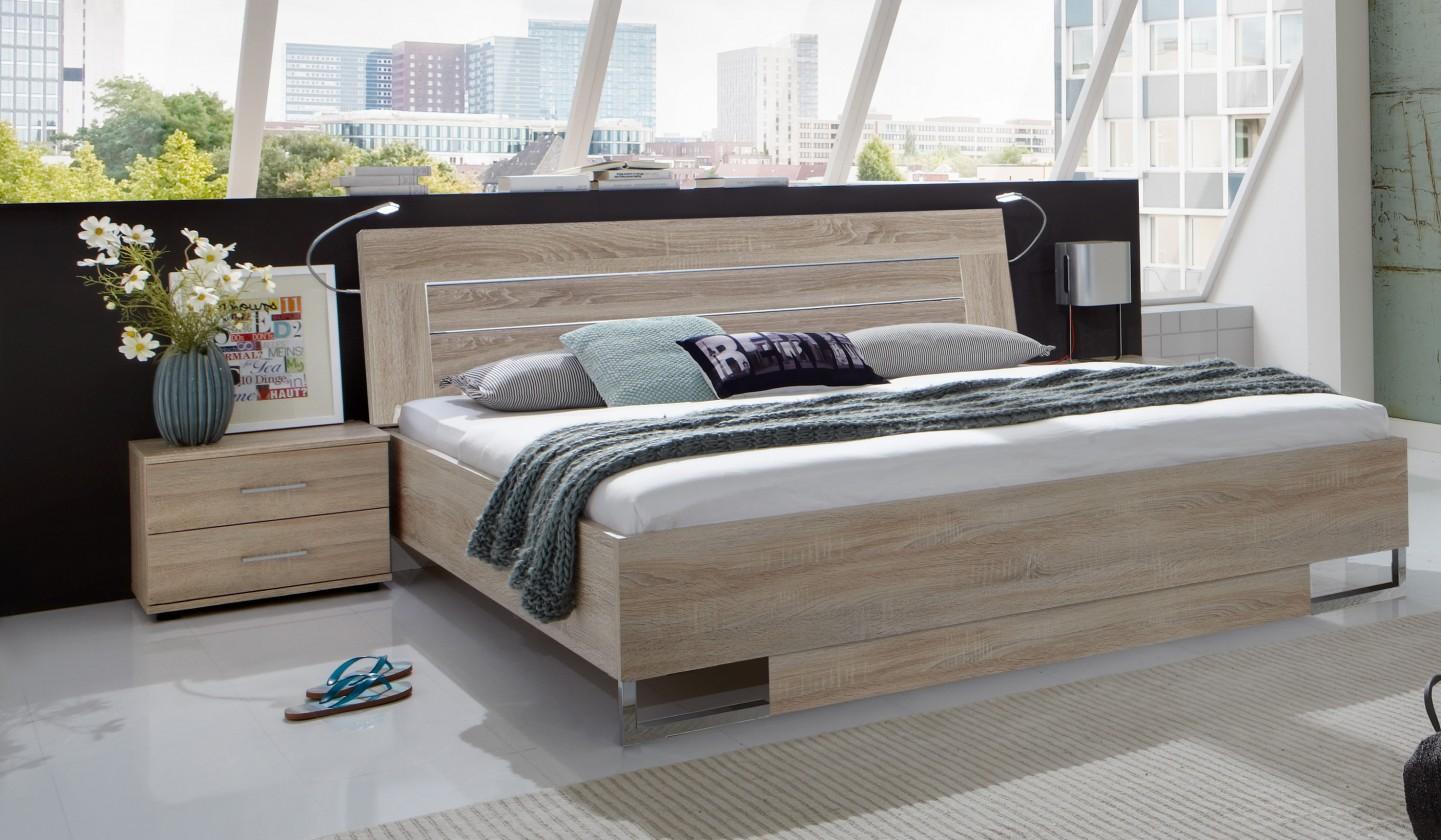 Spálňový program Davos - Komplet 3, posteľ 180 cm (dub)