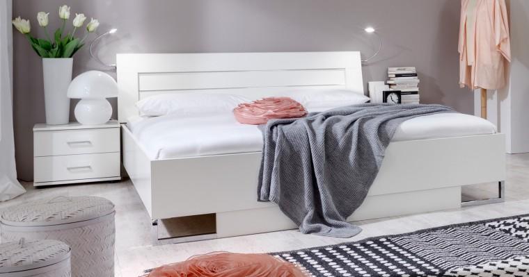 Spálňový program Davos - Komplet 5, posteľ 140 cm (alpská biela)