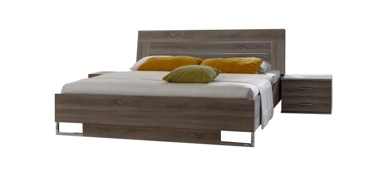 Spálňový program Davos - Komplet 5, posteľ 140 cm (dub montana)