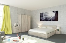 Spálňový program Denali-rám postele,skriňa,komoda,2nočné stolíky