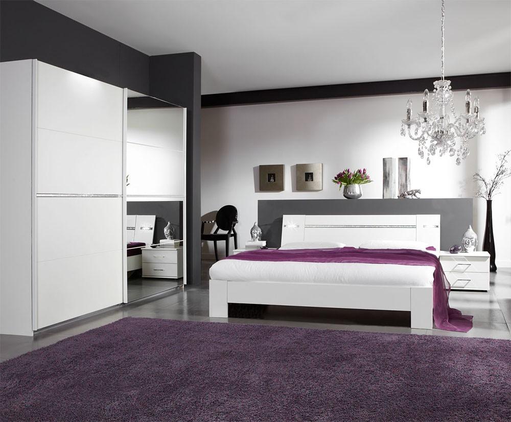 Spálňový program Heaven - Komplet 5, posteľ 160cm (alpská biela)