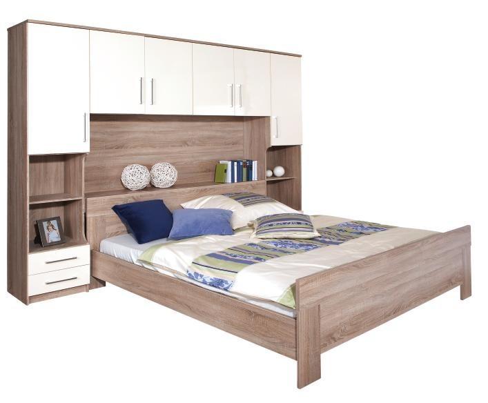 Spálňový program Ivory - komplet, posteľ 180cm (dub, slonová kost)