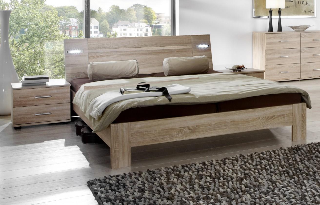 Spálňový program Vicenza - Komplet, posteľ 140 cm (dub)