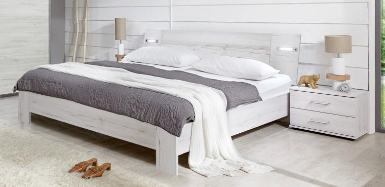 Spálňový program Vicenza - Komplet, posteľ 160 cm (dub biely)