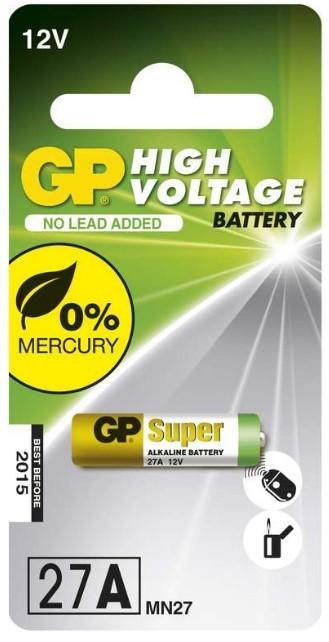 Špeciálne batérie Alkalická speciální baterie GP 27AF, 1 ks v blistru