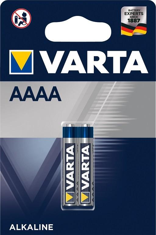 Špeciálne batérie Batérie Varta LR61 AAAA, 2ks x 4061101402