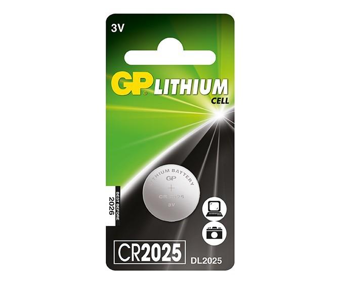 Špeciálne batérie Gombíková batéria GP CR2025