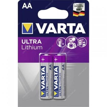 Špeciálne batérie Lítiová tužková batéria Varta Profi, AA, 2ks
