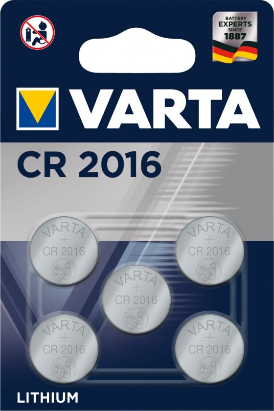 Špeciálne batérie Špeciálne batérie Varta CR 2016, 5ks