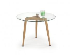 Spectra - Konferenčný stolík kruhový, nohy oceľ (sklo)
