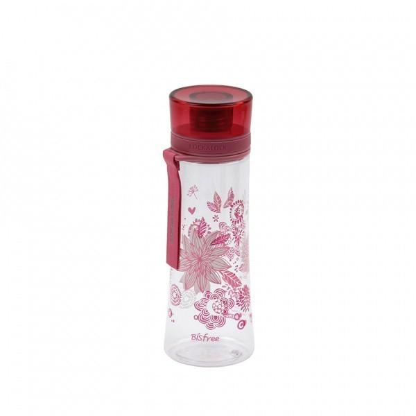 Športová fľaša kvety, 480ml (ružová)