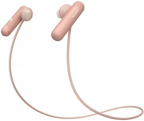 Športové slúchadlá Sony WI-SP500P, ružové