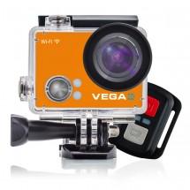 Sportovní kamera Niceboy VEGA 4K Orange + dálkové ovládání , plávajúcí držiak a flexibilné statív NICEBOY