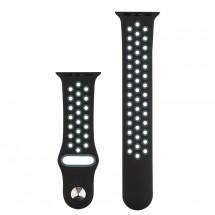Športový remienok na Apple watch 42/44 mm, čierny/sivý