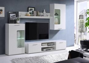 Spot - Obývacia stena s osvetlením (biely mat/lesk)