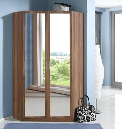 Sprint - rohová skriňa,175 cm,2x zrkadlo (francúzsky orech)