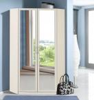 Sprint - rohová skriňa,198 cm,2x zrkadlo (alpská biela)