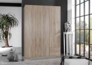Sprint - skriňa 135 cm,3x dvere,2x zásuvka (dub hrubá štruktúra)