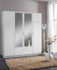 Sprint - skriňa 180 cm,4x dvere,2x zrkadlo (alpská biela)
