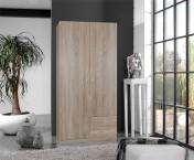 Sprint - skriňa 90 cm,2x dvere,2x zásuvka (dub hrubá štruktúra)