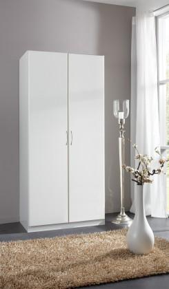 Sprint - skriňa 90 cm,2x dvere,4x police,1x tyč (alpská biela)