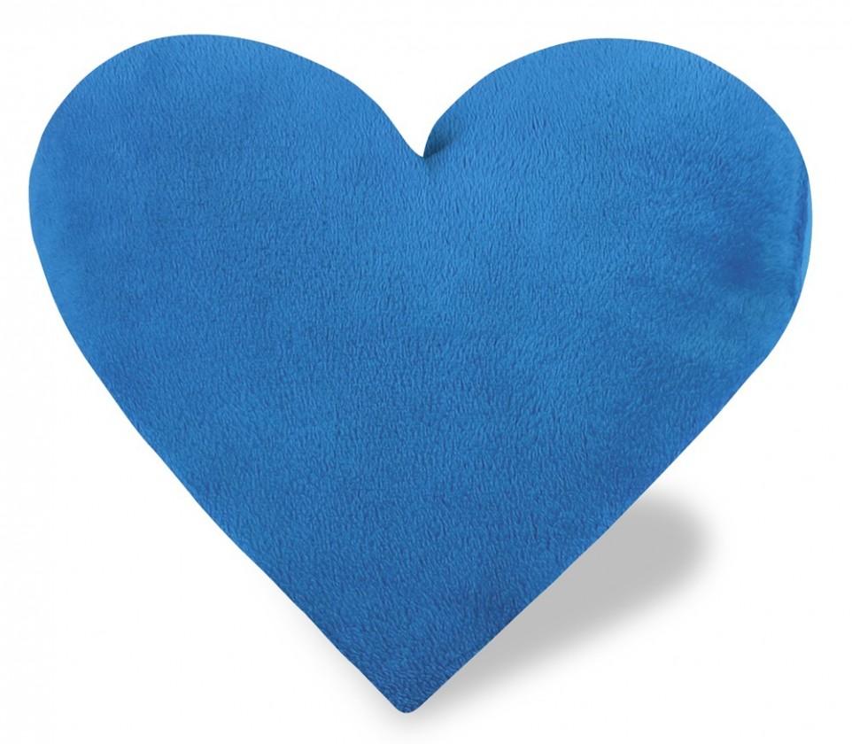 Srdce - Vankúšik, korall micro (modré)