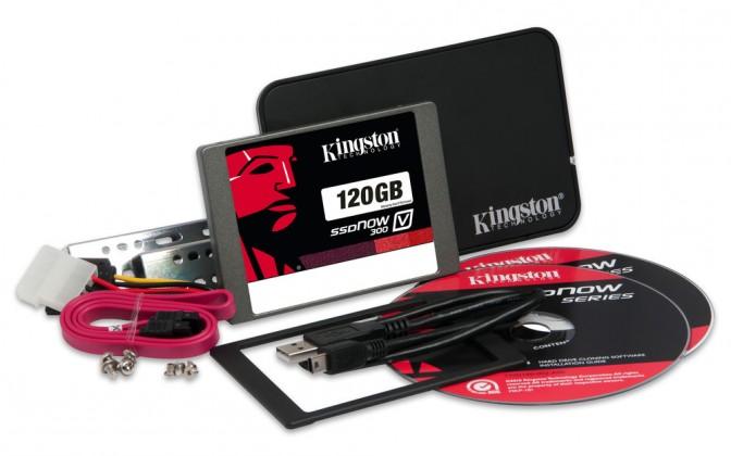SSD  Kingston 120GB SSDNow V300 SATA 3 2.5 Upgrade Bundle Kit