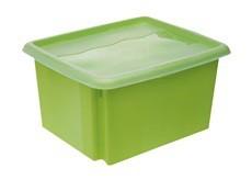 STACK GO-Box úložný s viekom, 24l (zelená)