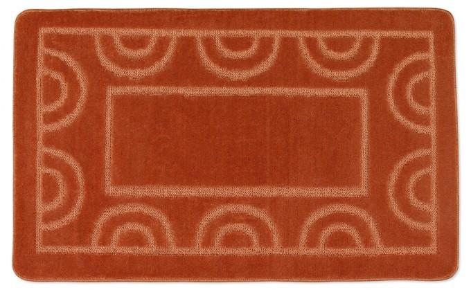 Standard - Kúpeľňová predložka 60x100 (terra půlkruhy)