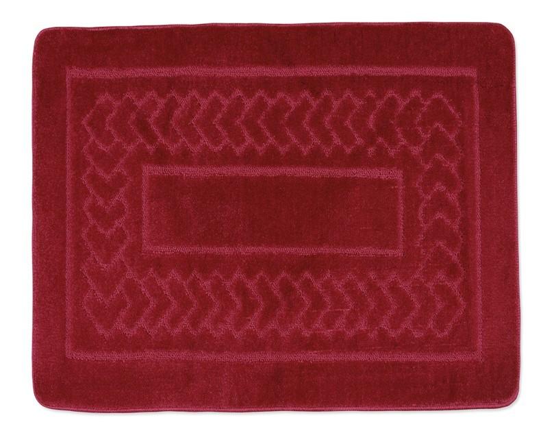 Standard - Kúpeľňová predložka 60x50 (červené bolzáno)