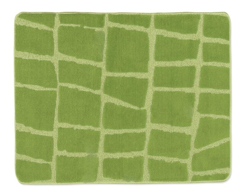 Standard - Kúpeľňová predložka 60x50 (zelená kostka)