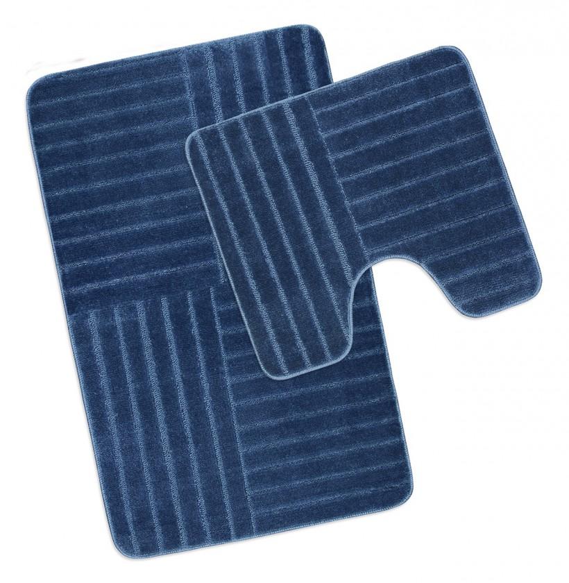 Standard - Kúpeľňová sada 50x80 + 50x40 (modré pruhy)