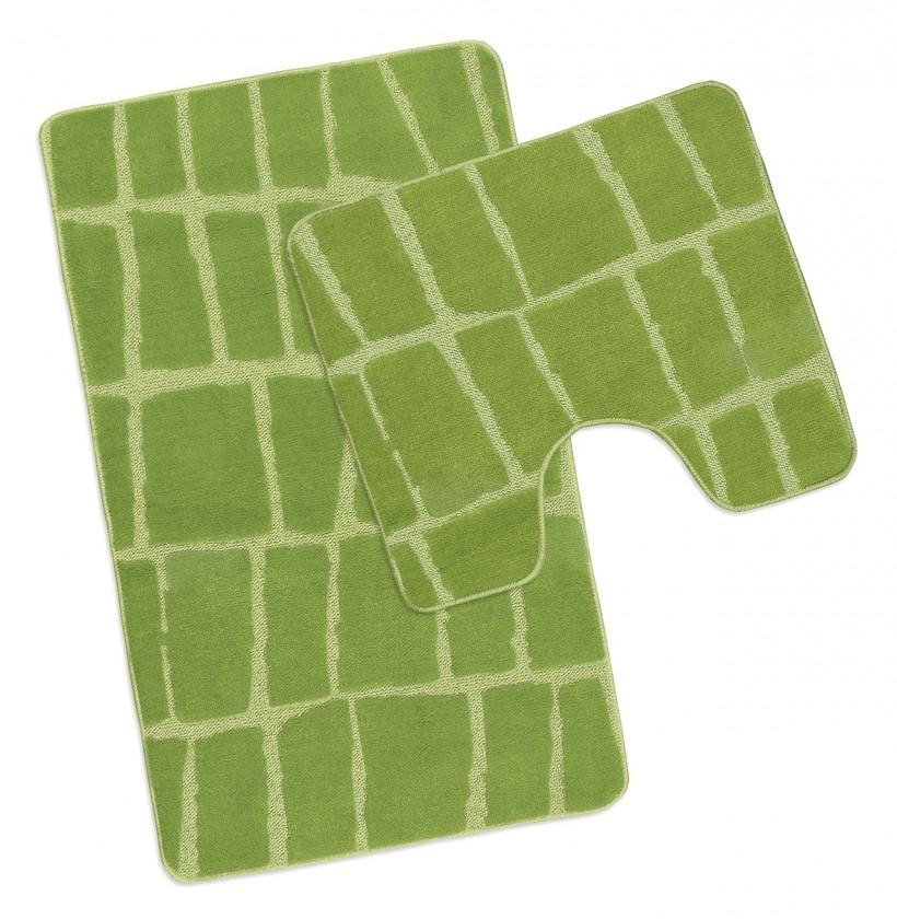 Standard - Kúpeľňová sada 50x80 + 50x40 (zelená kostka)