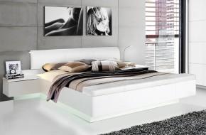 Starlet Plus - Posteľ 180x200, nočné stolíky (biela lesk)