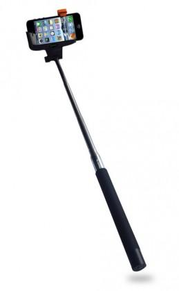 Statív Selfie tyč C-TECH až 107cm, kovová, bluetooth, otočná 180°