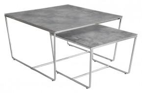 Stella - set 2 stolíkov, stohovateľné (chróm, šedá)