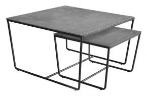 Stella - set 2 stolíkov, stohovateľné (čierna, šedá)