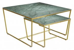 Stella - set 2 stolíkov, stohovateľné (zlatá, zelená)