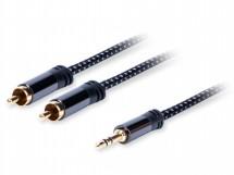 Stereo audio kábel AQ 6OKJR015, jack / 2xRCA, 1,5m