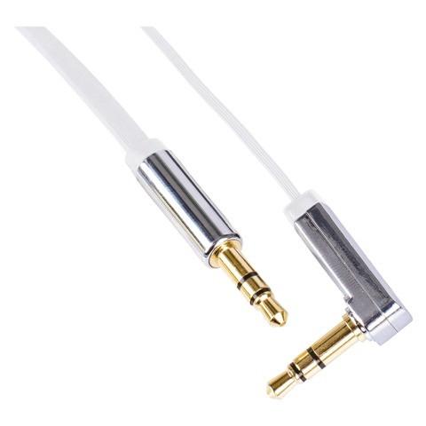 Stereo audio kábel Emos SM7031W, jack / jack, 1m, biely